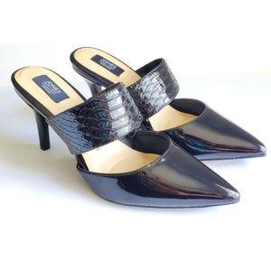 Jones New York Felicity Black Heel Mules Backless